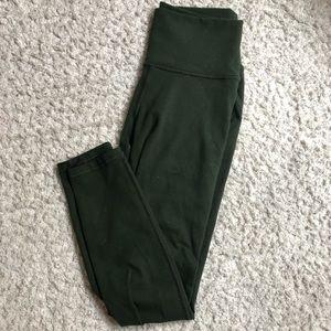 Fabletics 7/8 olive green leggings